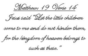 Verse Matthew19v14