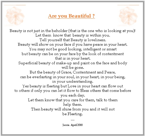 Are you Beautiful