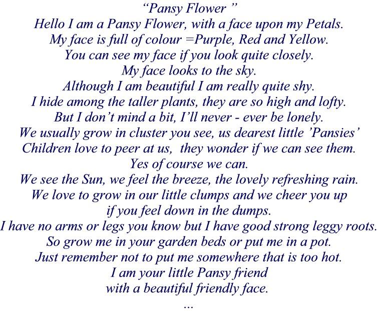 Poem Pansy Flower